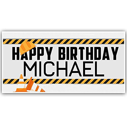 - Construction Birthday Personalized Banner