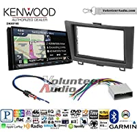 Volunteer Audio Kenwood DNX874S Double Din Radio Install Kit with GPS Navigation Apple CarPlay Android Auto Fits 2012-2016 Honda CR-V (Without factory amplified systems)