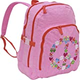 Peace & Love Large Pink Backpack