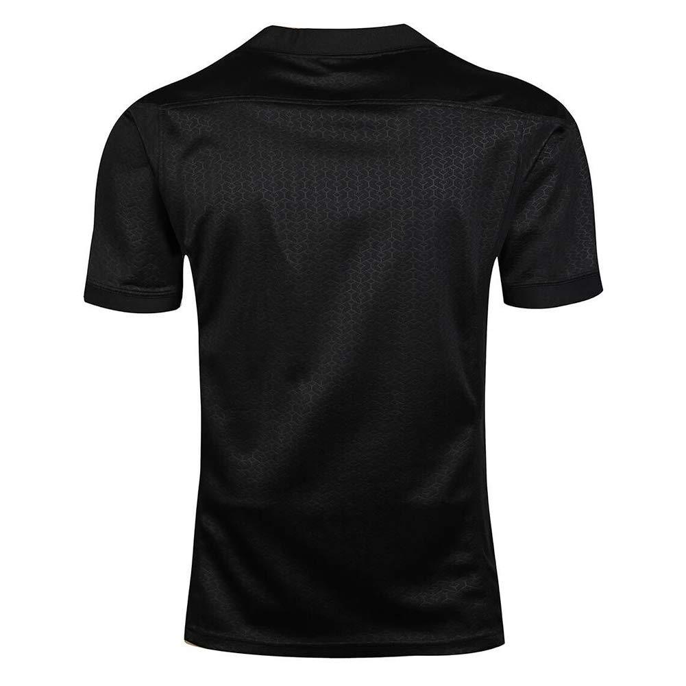 AFDLT 2019 New Zealand all Black Team Coppa del Mondo Rugby Jersey Girocollo Estate Sport Casual T-Shirt Traspirante Uomini Polo Shirt