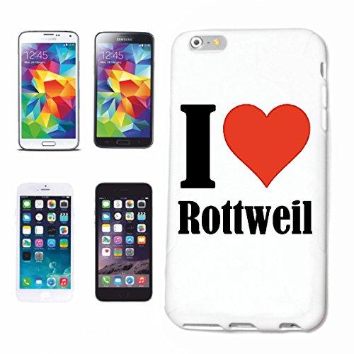 """Handyhülle iPhone 4 / 4S """"I Love Rottweil"""" Hardcase Schutzhülle Handycover Smart Cover für Apple iPhone … in Weiß … Schlank und schön, das ist unser HardCase. Das Case wird mit einem Klick auf deinem"""