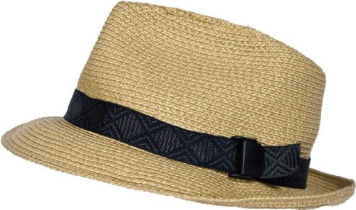 San Francisco Hat Company Slouch UPF50+ Packable Braid Fedora (Gold) Small/Medium