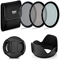 67mm Easy Screw-On Neutral Density Filters + Tulip Lens Hood + Snap on Lens Cap