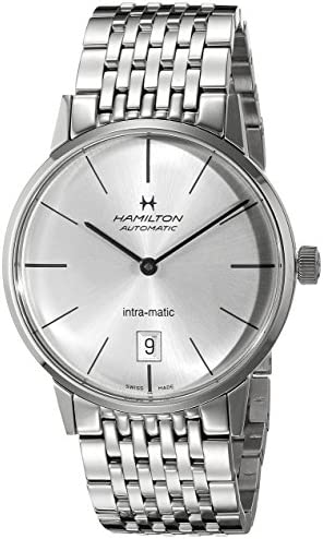 Hamilton Men s H38455151 American Classic Analog Display Swiss Automatic Silver Watch