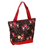 J Garden Red Owl Large Travel Tote Bag 16-inch