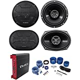 2) Hifonics ZS653 6.5 600W Car Speakers+2) 6x9 Speakers+4-Ch Amplifier+Amp Kit