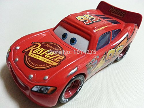 Lightning Mcqueen And Sally Costumes (Car Toys Pixar 1:55 Scale Diecast No.95 Radiator Springs Lightning McQueen Metal Toy and Car Collectors)