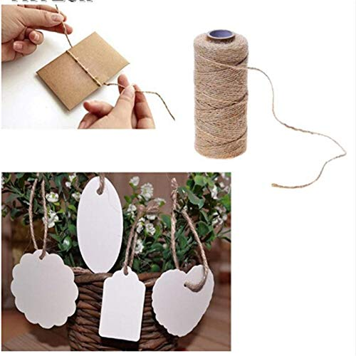 Linen Rope - Linen Cords Diy Wedding Gift Wrapping Durable Natural Jute Rope Hemp Thread Florists Home Craft - Jewelry Chewers Label Decor Protector Downs Toss Chain Chargers Belts Dream Dogs M
