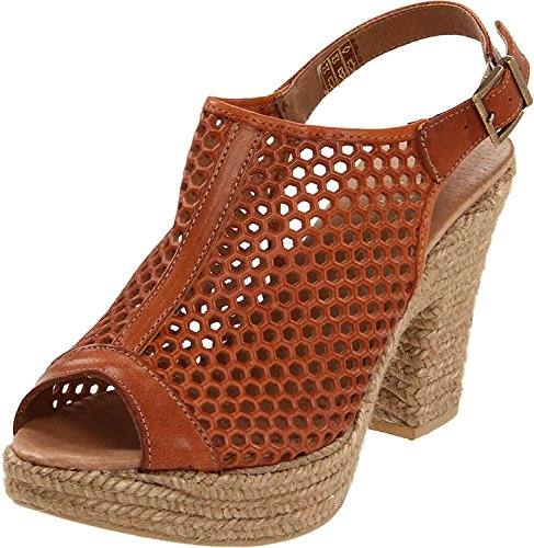 Eric Michael Jayden Womens Leather Espadrille Style Slingback Heel Sandals Tan Ku6HK