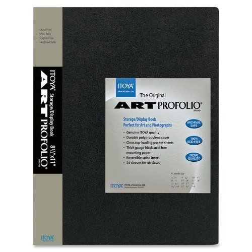 Itoya Art Profolio Original Presentation Book - 48 Capacity - 8.5in X 11in by Itoya Of America, Ltd Products