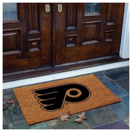 Coir Nhl Door Mat - The Memory Company NHL Philadelphia Flyers Flocked Door Mat