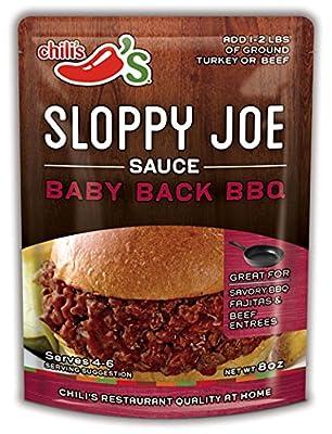 Chili's Sloppy Joe Sauce Baby Back BBQ 8 oz (Pack of 6)