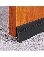"""Door Draft Stopper, Door Sweep for Exterior/Interior Doors, Under Door Seal Under Door Draft Blocker, Soundproof Door Bottom Weather Stripping, 2"""" W x 39"""" L, Black"""