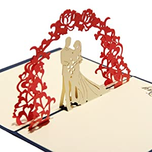 Amazoncom Papercraft PopUp 3D Wedding Cards Wedding