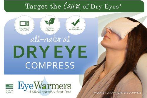 Dry Eye Compress, EyeWarmers Marque. Tous Compress naturel, sans colorant chaud pour les yeux secs, Chalazion, Orgelets, Computer Vision Syndrome ou Fatigué Dégagement oculaire