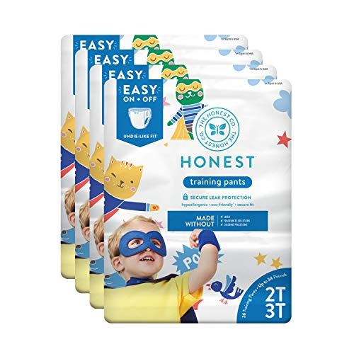 The Honest Company Toddler Training Pants, Super Heroes, 2T/3T, 104 Count (Packaging May Vary)