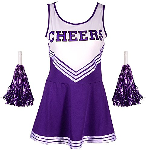 Cheerleading Uniforms Costumes (Jojobaby Women's Musical Uniform Fancy Dress Costume Complete Outfit (Large,)