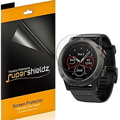 (6 Pack) Supershieldz for Garmin Fenix 5X Screen Protector, (Full Screen Coverage) 0.23mm High Definition Clear Shield (TPU): Electronics