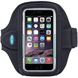 Armband for iPhone 7, 6, 6s with OtterBox Commuter or LifeProof case, Also for Galaxy S5, S6, S7 with slim case - Great for Running & Workouts for Men & Women [Black]