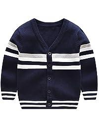 loenzo otiz Boy's Sweater in Autumn and Winter Multicolor Cardigan