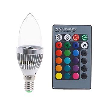 Crewell 3 W RGB LED Kerze Lampe wechselnde Farben mit Fernbedienung ...