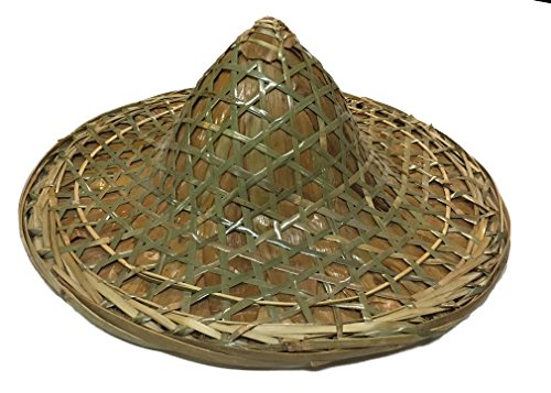 None Large Chinese Style Heavy Straw Hat