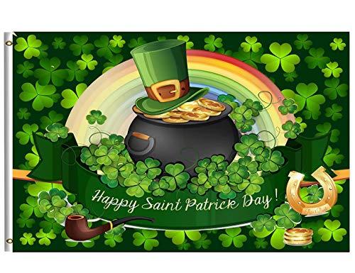 Wamika St.Patrick's Day Flag 3x5 FT Irish Holiday
