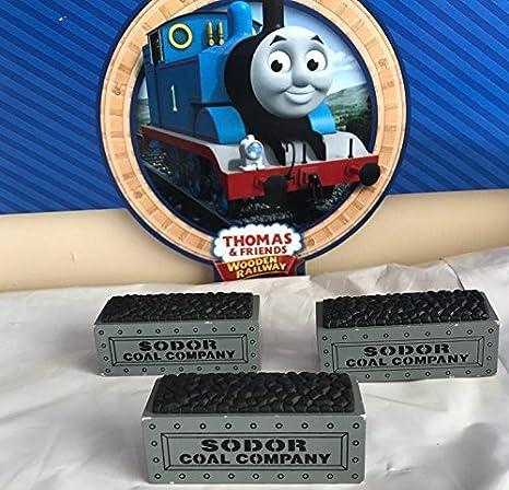 Sodor Coal Company Loads 3pk Thomas Friends Wooden Railway Tank Train Engine Brand New Loose