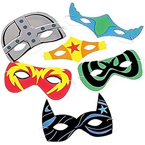 Foam Superhero Masks (24 Count)