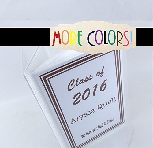 Graduation Gift 037 4x6 or 5x7 High School Graduate Photo Album Senior Class Picture Book, Personalized College Highschool Graduation Gift, up to 100 Pictures- MORE COLORS