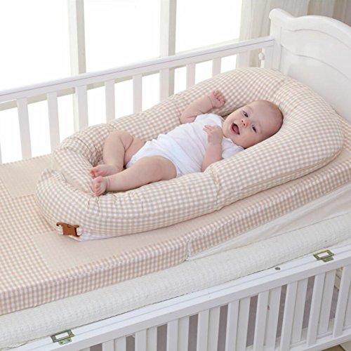 Aik@ Portátil Multifuncional Cuna,Plegable Colecho Cuna De Viaje Cama De Bebé Transpirable Fibra Nido Niño Hipoalergénico Suave Adecuado Para 0-1 Año ...