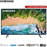 Samsung 43NU7100 43 NU7100 Smart 4K UHD TV (2018) with Extended Warranty (UN43NU7100)