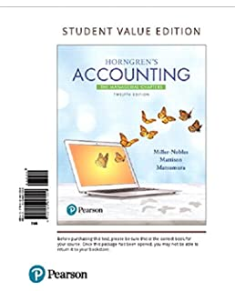 Amazon horngrens accounting student value edition plus mylab horngrens accounting the managerial chapters student value edition plus mylab accounting with pearson etext fandeluxe Gallery