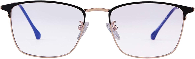 ADE WU Rund Gro/ß Brille mit Blaulichtfilter Brillenfassung Fake Brille Ohne St/ärke f/ür Herren Damen