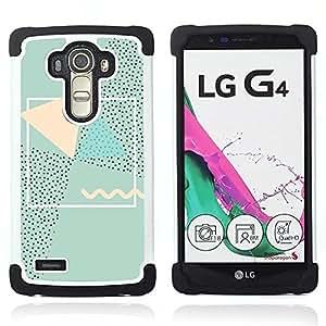 - polygon abstract 90's art pink green - - Doble capa caja de la armadura Defender FOR LG G4 H815 H810 F500L RetroCandy