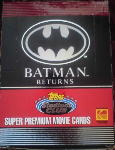Batman Returns Super Premium Movie Trading Cards Box -36 Count by Topps ()