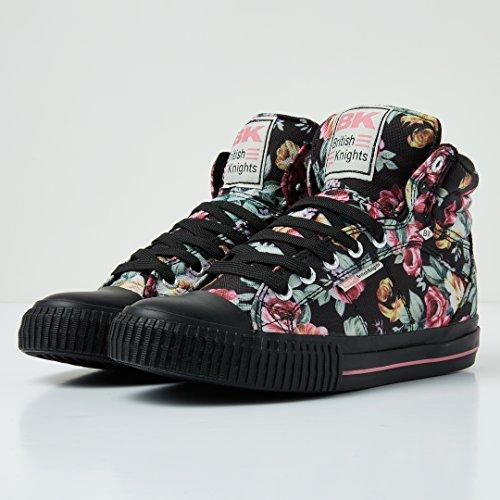 Noir Dee Femmes fleur Rose Knights Montante British Baskets EAU5qxXww