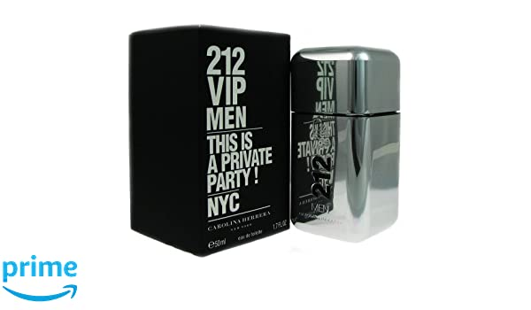 Carolina Herrera - 212 VIP MEN Eau De Toilette vapo 50 ml: Amazon.es: Belleza
