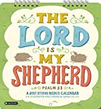 Orange Circle Studio 2017 Studio Redux Mini Wall Calendar, The Lord is My Shepherd (14562)