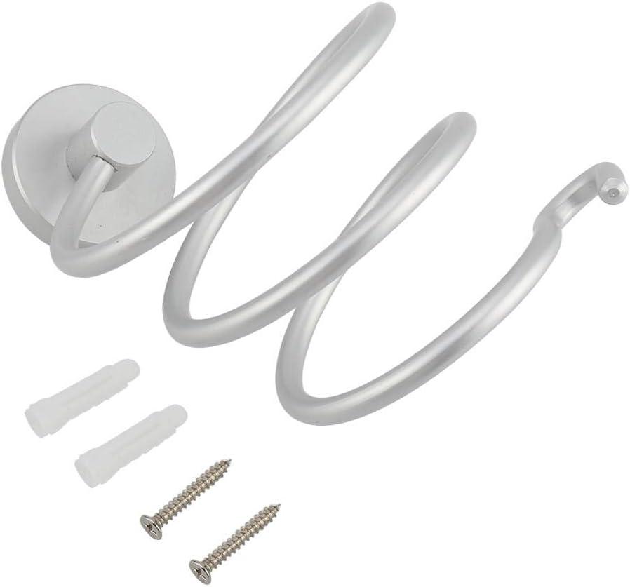 asciugacapelli a Spirale e portaoggetti per Attrezzi Mumusuki Porta phon Supporto a Parete in Lega di Alluminio
