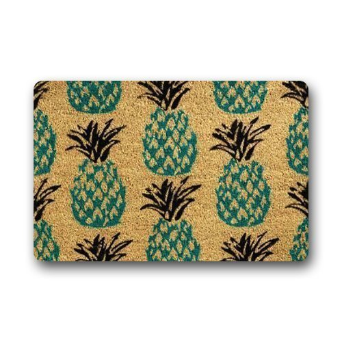 Door Mats Personalize Pineapple Custom Doormat 23.6 (L) x 15.7 (W) inches Abbey-IN