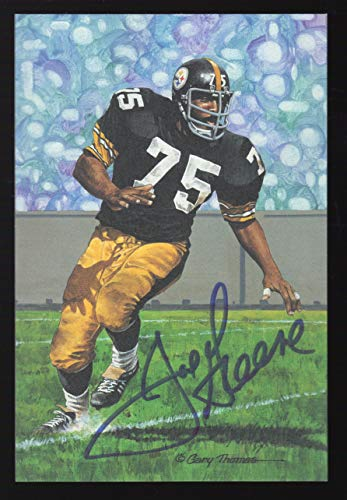 Mean Joe Greene Autographed Goal Line Art Postcard /5000 Steelers HOF from Goal Line