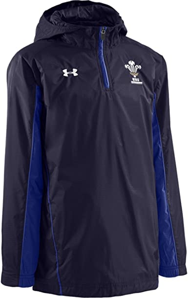 Electropositivo Comercio mosaico  Under Armour Wales 1/4 Zip Contact Jacket Junior [Navy] - Large Junior:  Amazon.co.uk: Clothing