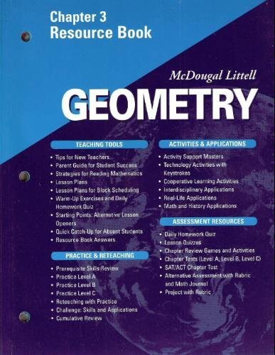 McDougal Littell Geometry Chapter 3 Resource Book