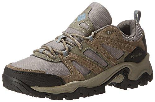 Columbia Women's Woodburn Wide Trail Shoe,Tusk/Dark Mirage,10 W US