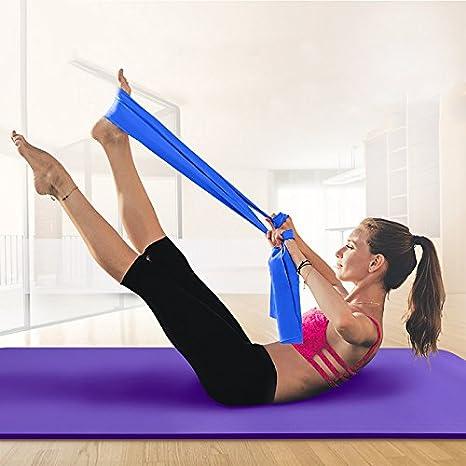 Amazon.com : CUSHY Yoga Band Fitne Body Building Yoga Belt ...