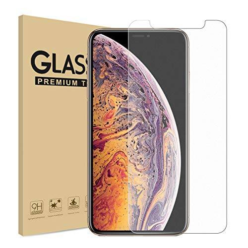 Matte Screen Protector for iPhone Xs Max Anti-Glare & Anti-Fingerprint Tempered Glass Clear Film [Case Friendly] [3D Touch ] [Easy Install] [Bubble Free] Compatible with iPhone Xs Max Smooth as Silk