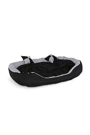 Cama para perros, Colchón para perros (110x80x23 cm, negro/gris): Amazon.es: Productos para mascotas