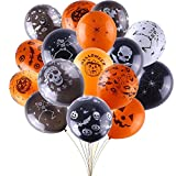#3: 100 Pieces of Thick Latex Balloons for Halloween Party,12 type Halloween Party Decorations with One Free Inflator