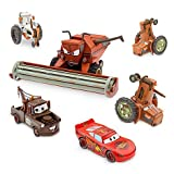 Disney Pixar CARS Movie Exclusive Limited Edition Set TRACTOR TIPPING DELUXE DIE CAST SET mit FRANK THE COMBINE (Scale 1:24), 2 TRACTORS, 1 COW TRACTOR, LIGHTNING MCQUEEN, MATER (Scale 1:43) - Metal